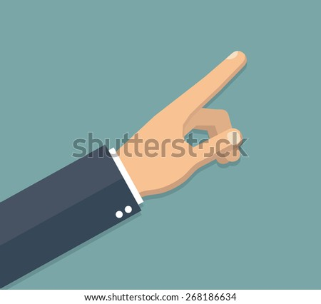 Businessman hand pointing up