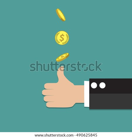 businessman hand throwing up a