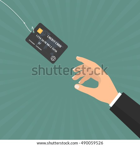 businessman hand with credit