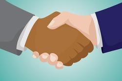 businessman handshaking each other.