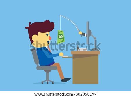 businessman have been online