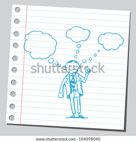 Businessman having ideas