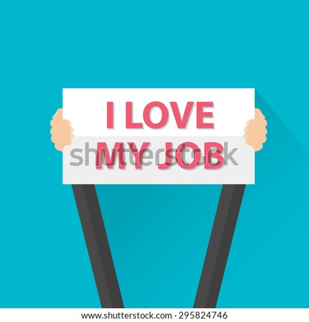 businessman holding i love my