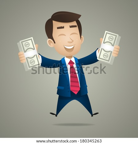 businessman holds in hand