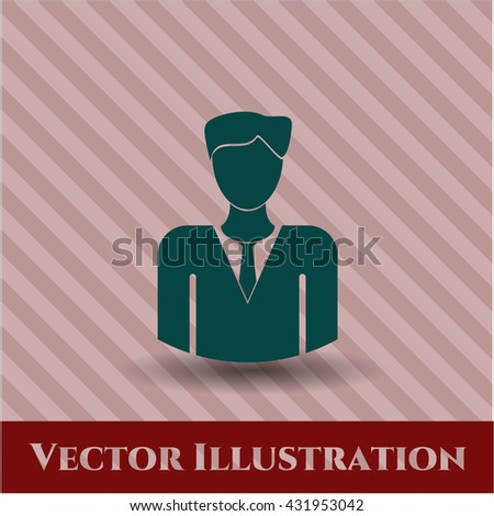 Businessman icon or symbol