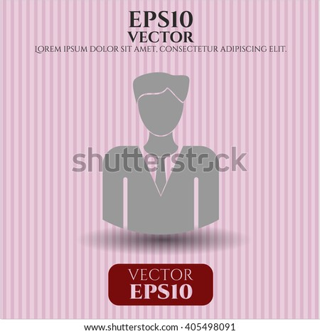 Businessman icon vector illustration