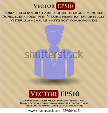 businessman icon vector symbol flat eps jpg app web