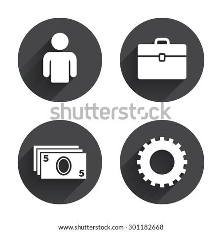 Human Silhouette And Cash