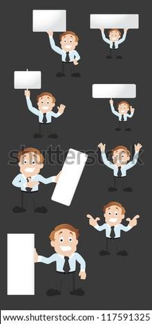 Businessman Illustration Set