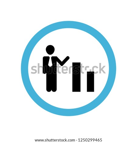 businessman in ascending business bars graphic icon symbol. Premium quality isolated businessman in ascending business bars graphic vector icon in trendy style. businessman