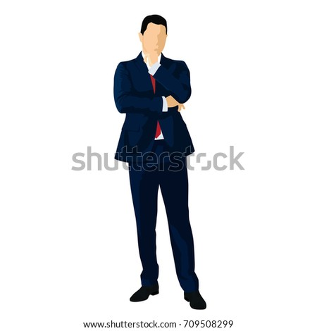 businessman in dark blue suit