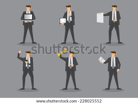 businessman in grey suit and