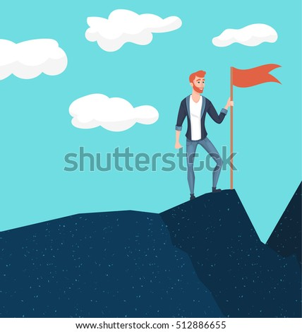 businessman in mountains