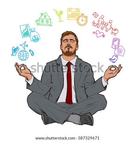 businessman in nirvana relaxed