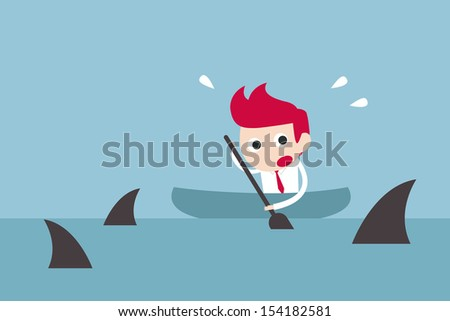 businessman in risk  vector