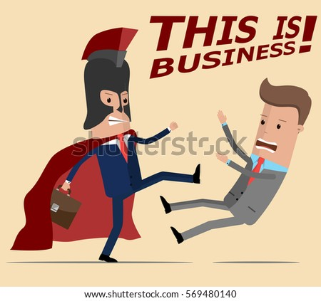businessman in suit spartan has