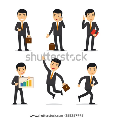 Businessman isolated vector