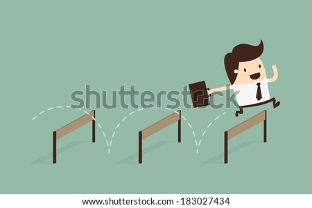 Businessman Jumping Over Hurdle  Сток-фото ©