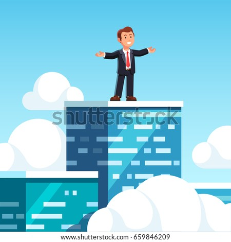 businessman leader standing on
