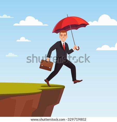 businessman leap of faith