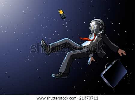 businessman lost in space