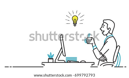 businessman  male office worker