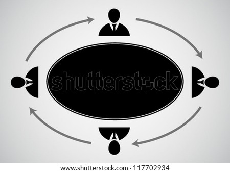 Businessman management concept background
