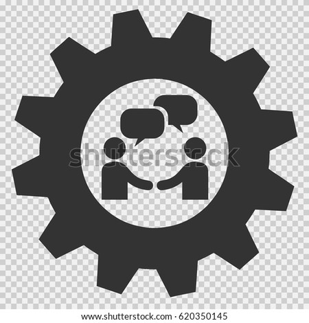 Businessman meeting bubble handshake simple isolated vector icon. Agreement symbol sign on transparent background.