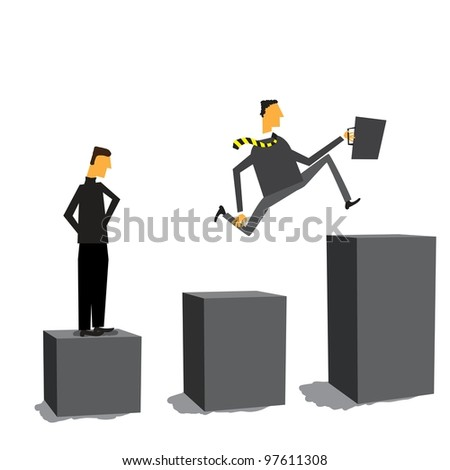 Businessman moving forward no matter what - stock vector