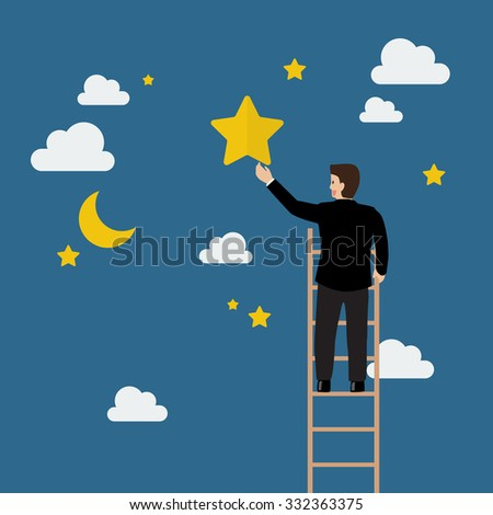 businessman on the ladder