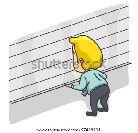 Businessman opening / closing shop - Vector