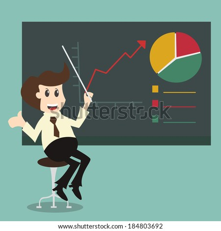 businessman pointing graph Chart growth concept