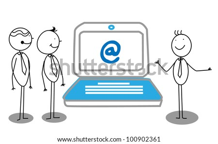 Businessman Presentation about online