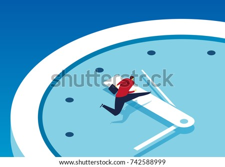 Businessman race against time