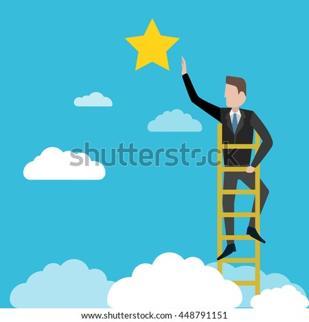 businessman reaching to the