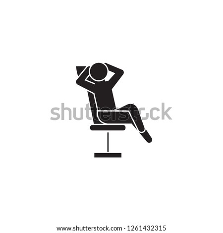businessman relaxation black