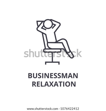 businessman relaxation thin