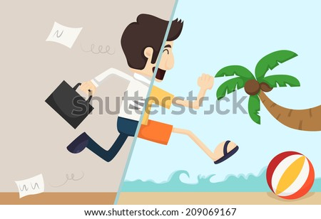 Shutterstock Businessman relaxing,  eps10 vector format
