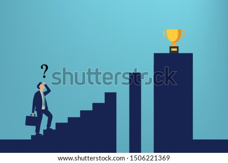 businessman running to successful info graphic vector illustration, how to success, reaching success