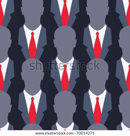 Businessman - seamless pattern
