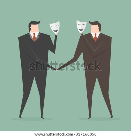 businessman shaking hands with
