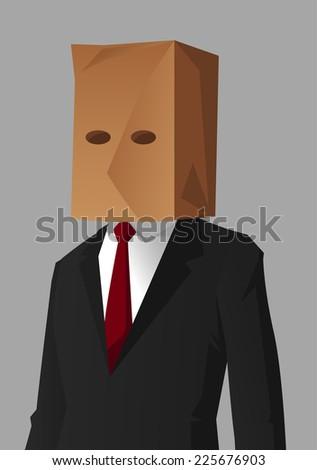 businessman shame hiding