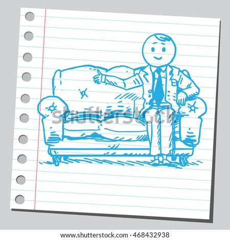 Businessman sit on couch