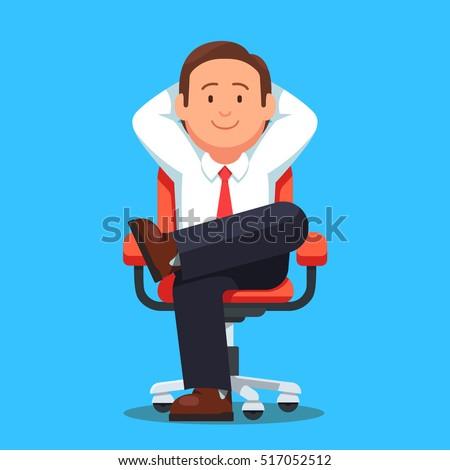 businessman sitting calmly on a