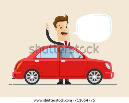 businessman stand near his car