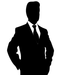 businessman standing isolated on white
