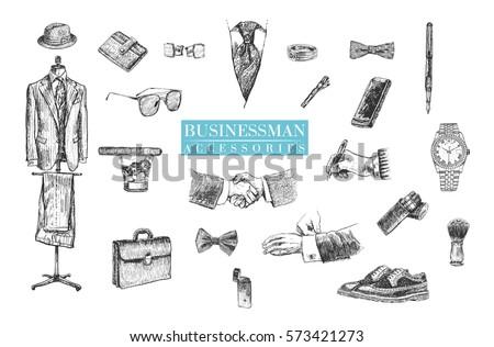 businessman stuff and...