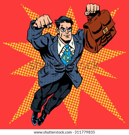 businessman superhero work