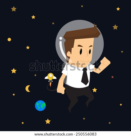 businessman survey cosmos.vector