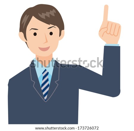 Businessman that pose the number one - stock vector